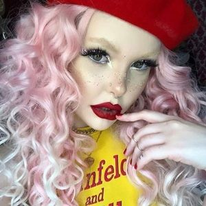 "💫26"" PINK OMBRÉ CURLY LACE FRONT WIG💫 *NWT* 🆕🆕"